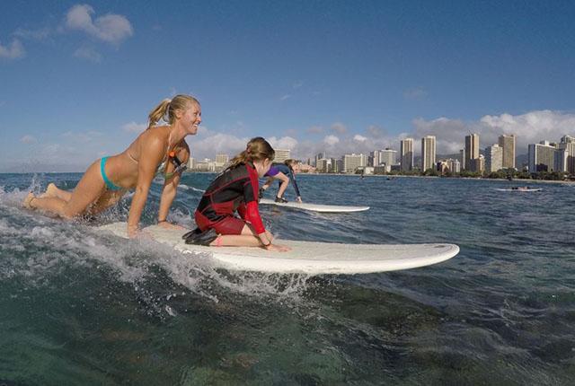 夏威夷冲浪俱乐部一小时拼团课程