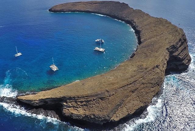夏威夷茂宜岛莫洛基尼月亮湾