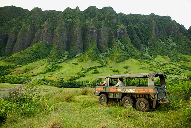 夏威夷欧胡岛古兰尼体验套餐【古兰尼专属巴士前往+电影场景之旅+丛林探险之旅/海洋巡游之旅(带婴儿的家庭)+种植园+午餐】